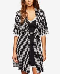 A Pea In The Pod Nursing Nightgown And Robe Black White Stripe
