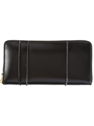 Comme Des Garcons Play Zip Up Continental Wallet Black