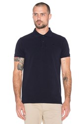 Scotch And Soda Classic Garment Dyed Pique Polo Navy