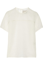 Jason Wu Contrast Trim Lace Top