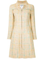 Chanel Vintage Long Sleeve One Piece Dress Nude And Neutrals