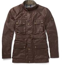 Belstaff Roadmaster Slim Fit Waxed Cotton Jacket Brown