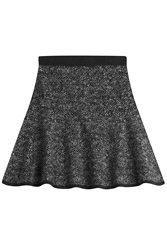 Michael Kors Merino Wool Flared Skirt Grey