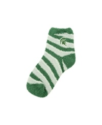 For Bare Feet Michigan State Spartans Sleep Soft Candy Striped Socks Green