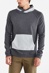 Bdg Colorblock Pullover Hooded Sweatshirt Charcoal