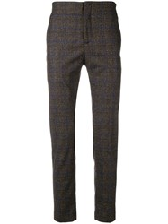 Daniele Alessandrini Checked Tailored Trousers Brown