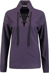 Tomas Maier Brushed Cotton Top Purple