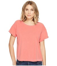 Joe's Jeans Hunter Crop Tee Poppy Women's T Shirt Red