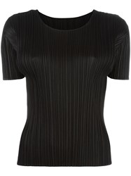 Issey Miyake Pleats Please By Pleated T Shirt Black