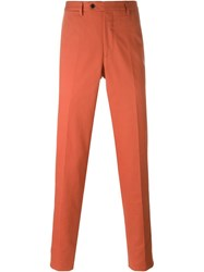 Mp Massimo Piombo Chino Trousers Yellow And Orange