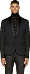 Cnc Costume National Black Silk Lapel Blazer