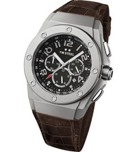 Tw Steel Ce4013 Ceo Tech Stainless And Leather Watch