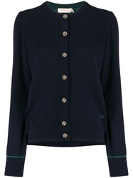 Tory Burch Embroidered Logo Cardigan 60