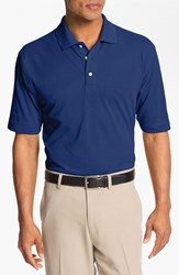 Men's Big And Tall Cutter And Buck 'Championship' Drytec Golf Polo Tour Blue