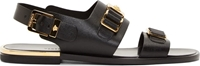 Versace Black And Gold Slingback Sandals