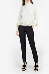 Jonathan Simkhai Studded Roll Neck Sweater Ivory