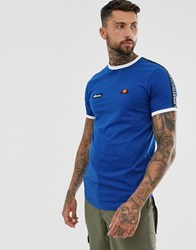 Ellesse Fede T Shirt With Taping In Blue