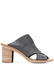 Officine Creative Crossover Strap Mules Grey