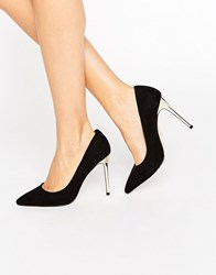 Faith Cleo Pointed Court Shoe Black