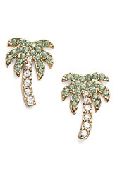 Women's Kate Spade New York 'Out Of Office' Palm Tree Stud Earrings