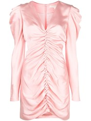 Jonathan Simkhai Puff Sleeve Mini Dress Pink