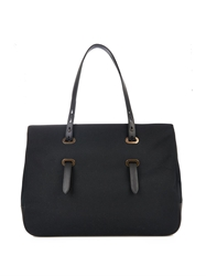 Tomas Maier East West Canvas And Leather Shopper