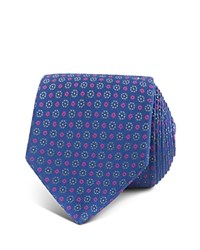 Thomas Pink Sargin Flower Woven Classic Tie Navy Pink