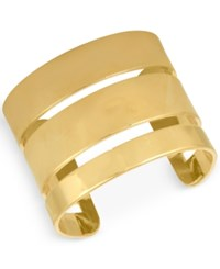 Rachel Roy Gold Tone Three Band Cuff Bracelet
