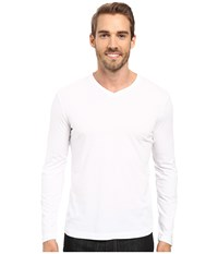 Mod O Doc Cardiff Long Sleeve Jersey V Neck Tee White T Shirt