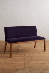 Anthropologie Velvet Emrys Bench Dark Purple