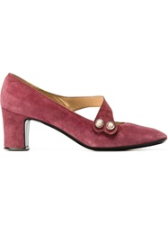 Pierre Cardin Vintage Strap Pumps Pink And Purple