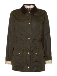 Barbour Alexandria Beadnell Wax Jacket Olive