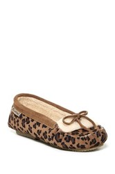 Bearpaw Venia Genuine Sheepskin Lined Moccasin Shoe Brown
