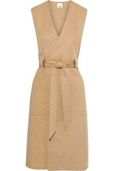 Iris And Ink Woman Cotton Twill Wrap Dress Sand