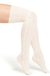 Women's Free People 'Bowery' Over The Knee Socks Pink Champagne Pink