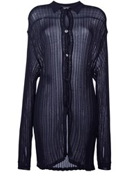 Yves Saint Laurent Vintage Ribbed Knit Shirt Black