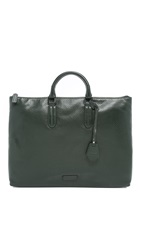Uri Minkoff Perforated Leather Devin Briefcase Deep Forest