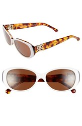 Women's Bcbgmaxazria 'Tickled' 53Mm Sunglasses White Tortoise