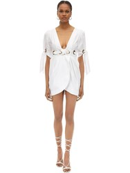 Alice Mccall Cotton Poplin Mini Wrap Dress White