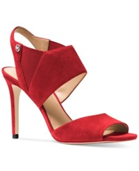 Michael Kors Marti Slingback Dress Sandals Women's Shoes Crimson