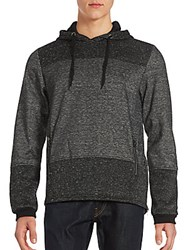 Buffalo David Bitton Fenrico Two Tone Fleece Hoodie Black Mix
