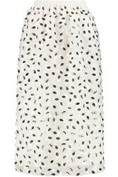 Mother Of Pearl Alwyne Embellished Silk Organza Midi Skirt White