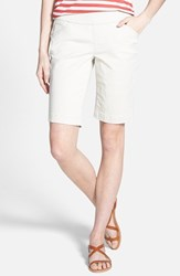Jag Jeans Women's 'Ainsley' Slim Bermuda Shorts Stone