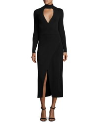 A.L.C. Rojo Long Sleeve Ponte Midi Dress Black