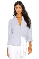 1.State Patch Pocket Roll Tab Button Down Baby Blue