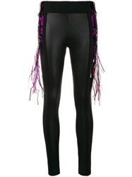No Ka' Oi Fringe Detailing Leggings Black
