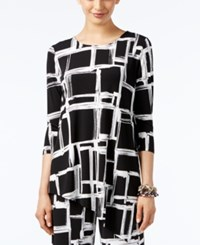 Alfani Geo Print High Low Tunic Top Only At Macy's Sketched Square