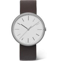 Uniform Wares M37 Precidrive Stainless Steel And Leather Watch White