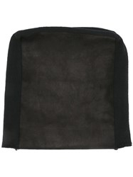 Julius Leather Panel Beanie Hat Black