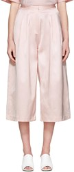 Edit Pink Long Satin Culottes